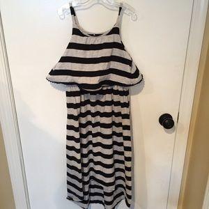 EUC Girls Hi/Low striped cotton sundress Sz 7/8 😍